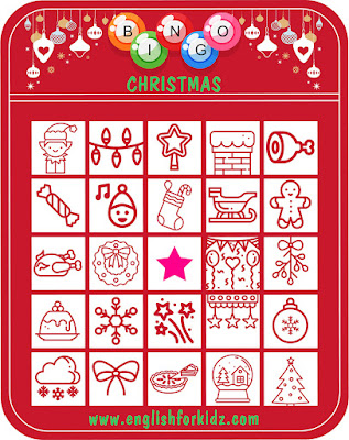 Printable Christmas bingo activities