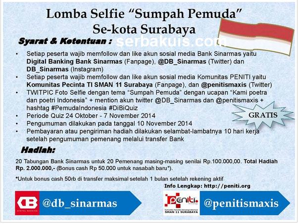 Kontes Foto Selfie Berhadiah Tabungan Total 2 Juta Rupiah