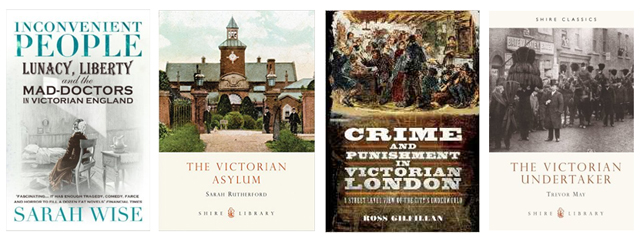 Victorian health and crime books