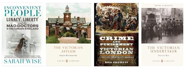 Victorian health and crime books