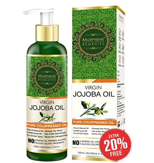 Golden Virgin Jojoba Oil Pure Cold Pressed for Hair and Skin, 120ml