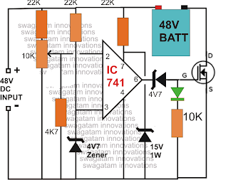 Make this 48V Automatic Battery Charger Circuit | Diagram wiring