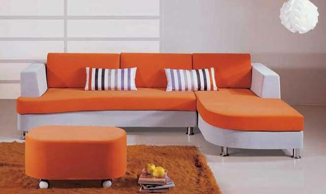Hình ảnh cho mẫu ghế sofa phòng khách nhỏ mang phong cách thiết kế hiện đại cùng gam màu trẻ trung, năng động
