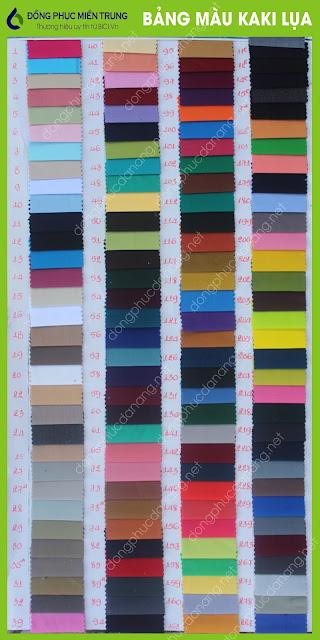 Bảng màu vải kaki cotton