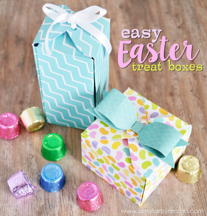 Easy Easter Treat Boxes at artsyfartsymama.com #HSNPartyPack