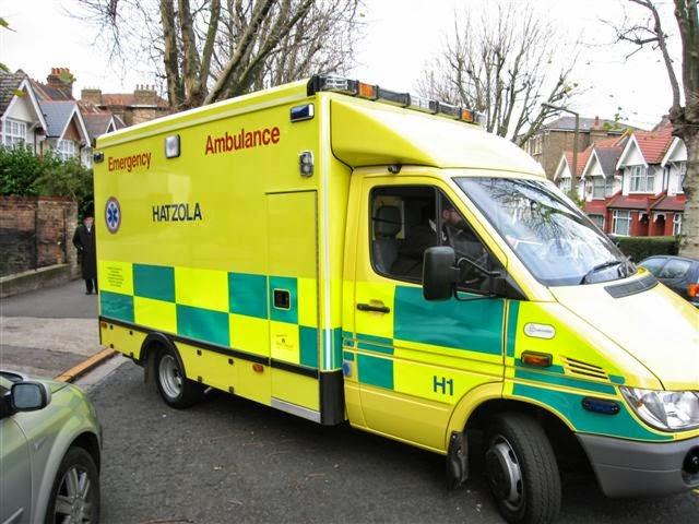 Driving Ambulance Lights