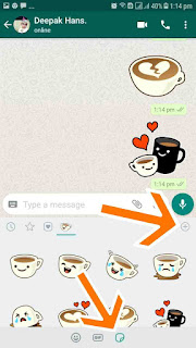 How to send stickers on whatsapp.whatsapp stickers