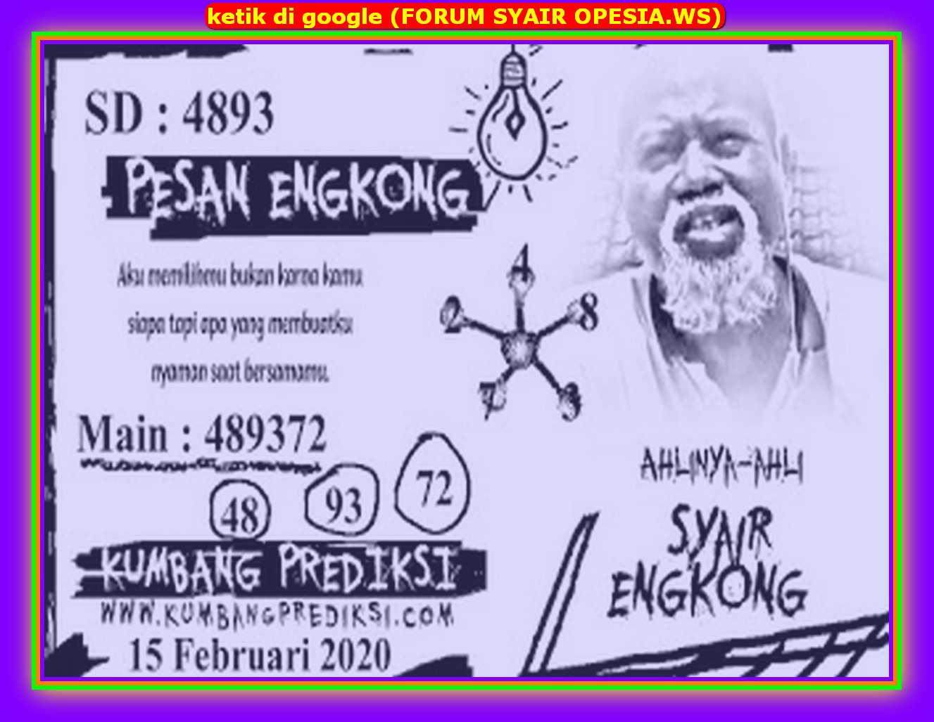 Kode syair Sydney Sabtu 15 Februari 2020 56