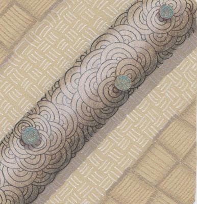 zentangle renaissance tile arc flower keeko dive #293