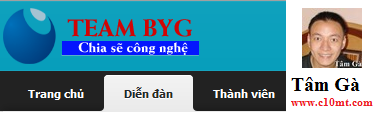 he thong forum cua team byg