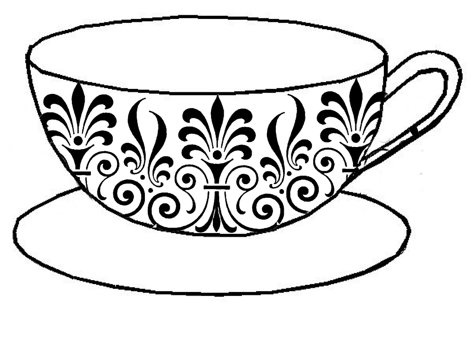 Tea Cup Coloring Pages For Adults Coloring Pages