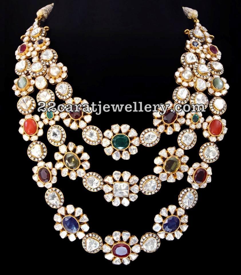 Latest jewellery designs by SRJ - Jewellery Designs