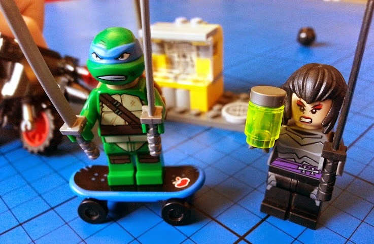 TMNT LEGO set 79118 Karai Bike Escape Leonardo minifigure