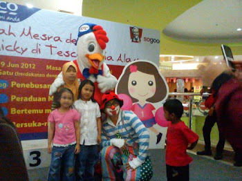 Mr.Soh the magical clown at Tesco KFC outlet