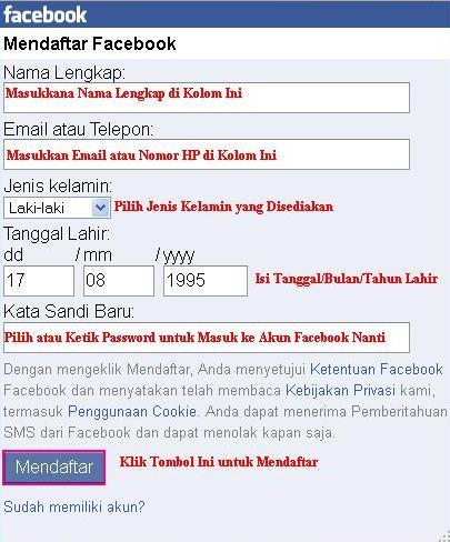Cara Mudah Daftar Facebook via Opera Mini HP ~ Download Tips Trik ...
