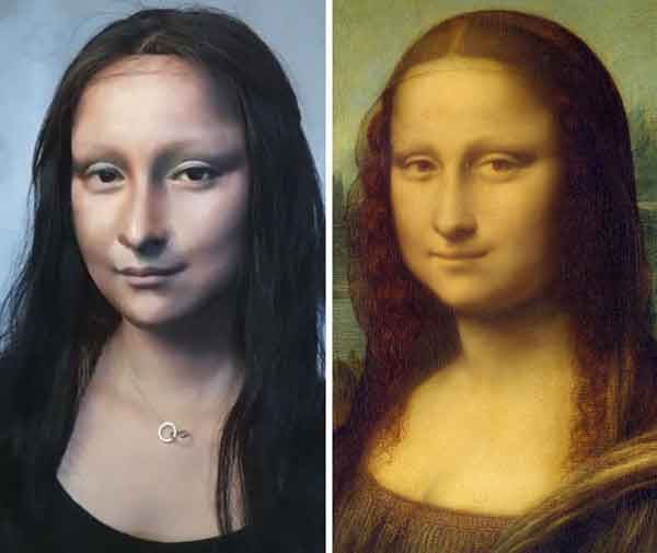Transformasi Makeup menjadi Monalisa dan Artis Terkenal