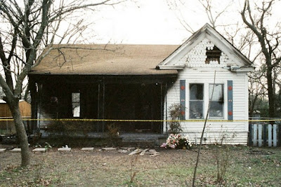 The exterior of the Willingham home after the blaze.