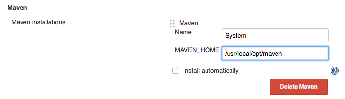 Homebrewed Maven doesn't have a 'lib' subdirectory in Jenkins