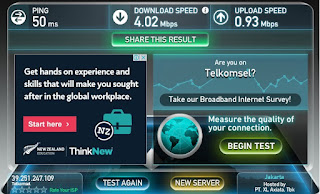 Carar test kecepatan internet speed.net