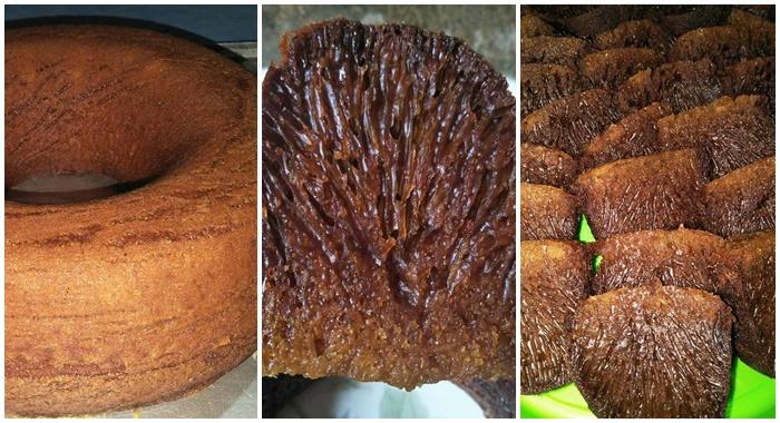 Cara Membuat Kue Bolu Karamel Sarang Semut Yang Lembut Enak