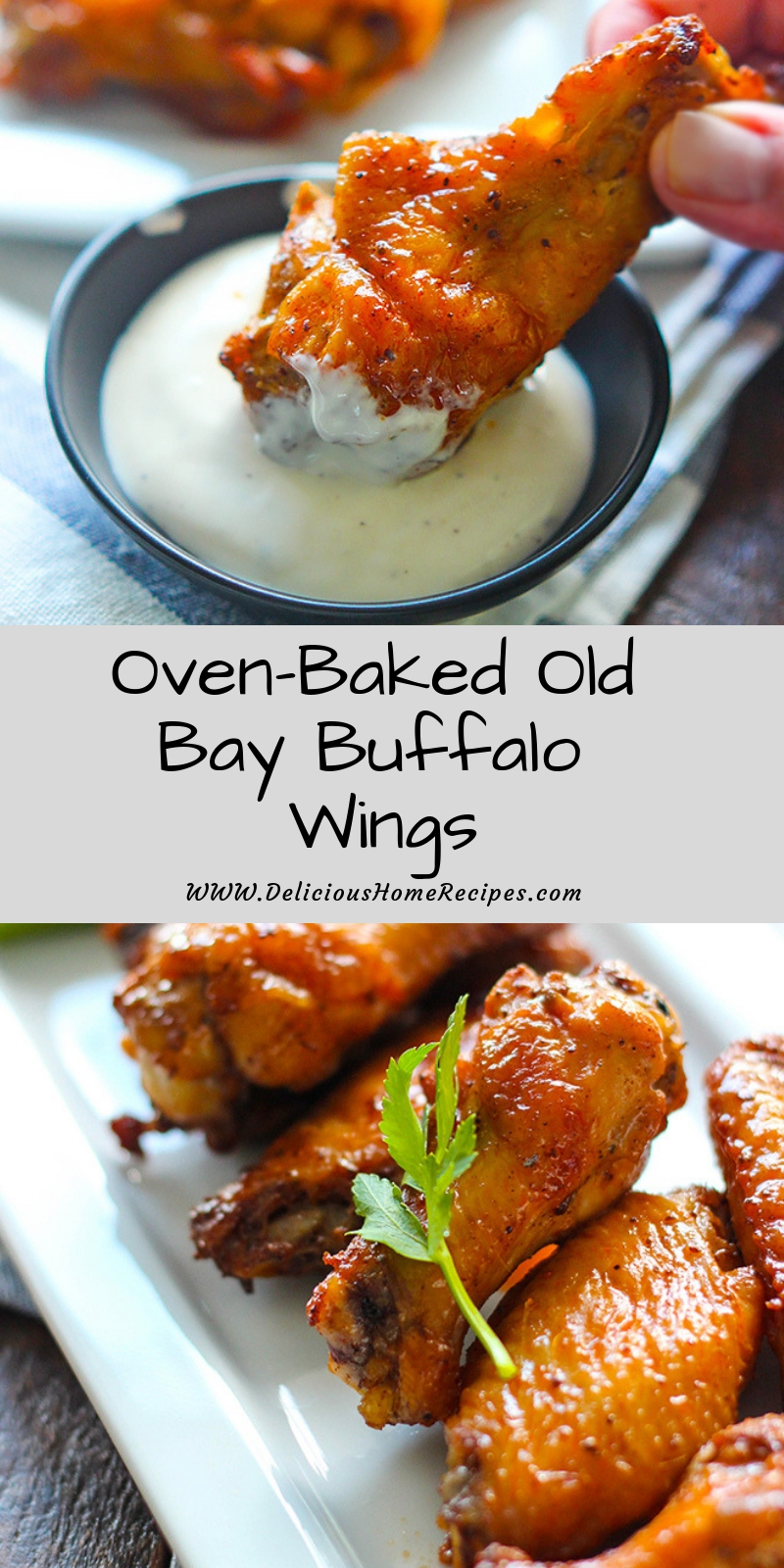 Oven-Baked Old Bay Buffalo Wings