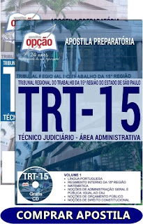 comprar Apostila TRT-15a região Campinas-SP 2018 - Técnico Judiciário – Área Administrativa.