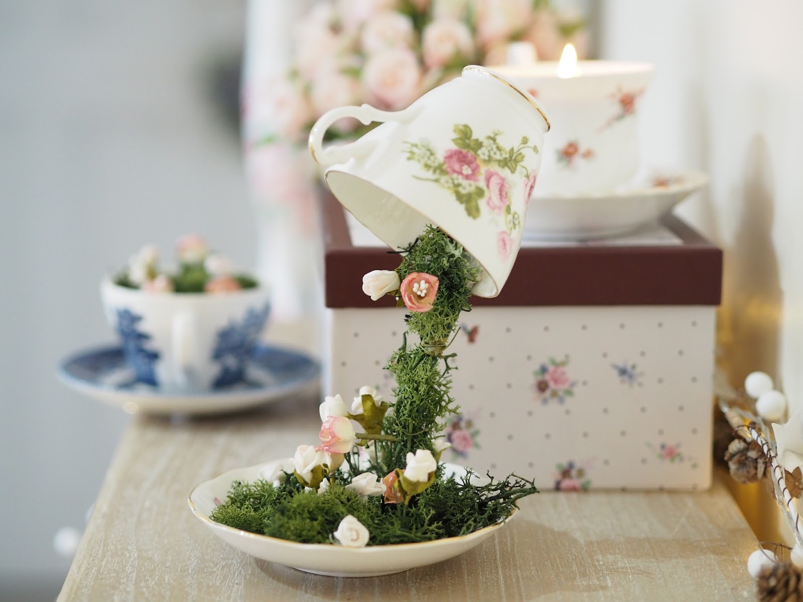 How To Make Floating Teacups Floating Tea Cup Tutorial Dainty Dress Diaries