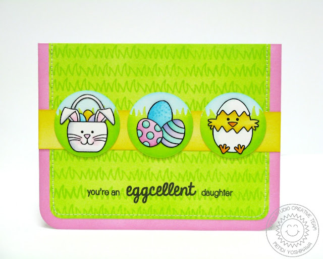 Sunny Studio Stamps Easter Card (using A Good Egg & Sunny Sentiments Stamps & Dies)