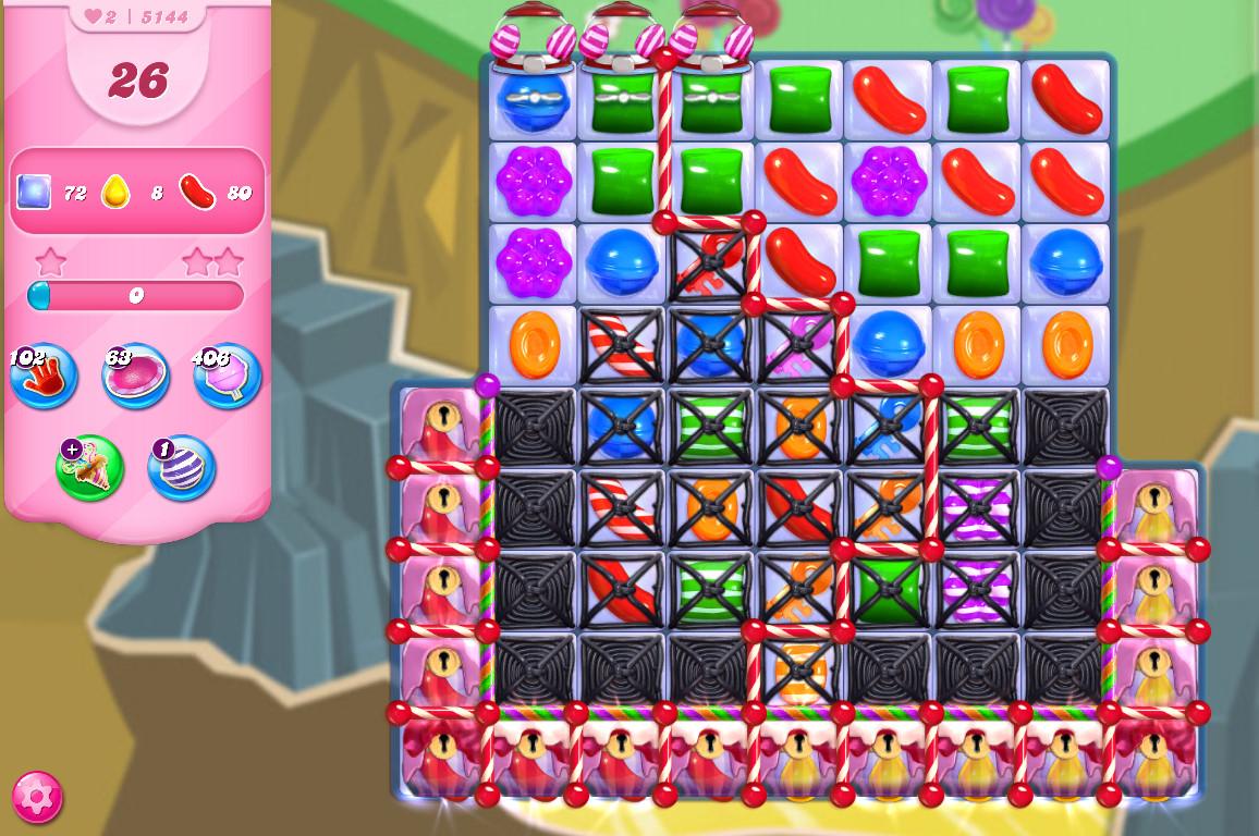 Candy Crush Saga level 5144