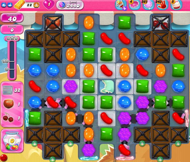 Candy Crush Saga level 2440