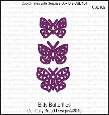 Our Daily Bread Designs Custom Dies: Bitty Butterflies