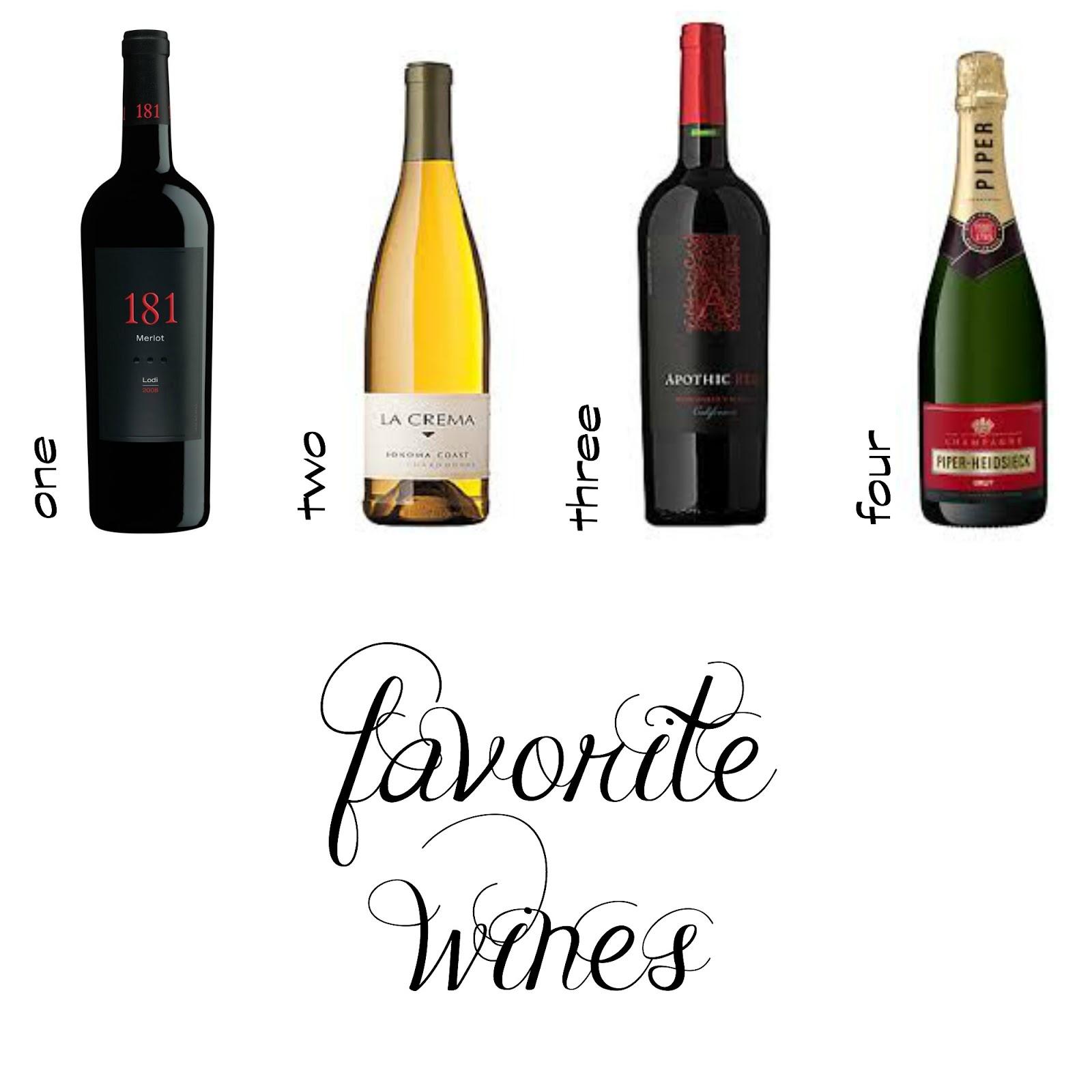 181 Merlot / La Crema Chardonnay / Apothic Red