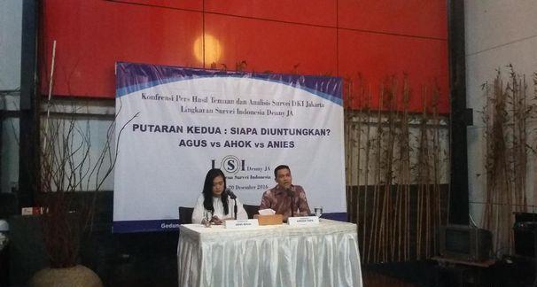 Survei LSI Denny JA: Agus Pasti Menang, Ahok Game Over