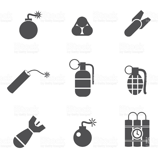 Bomb Vector Icons Royaltyfree Stock Vector Art