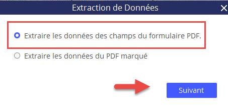 Extraire les données des champs du formulaire PDF