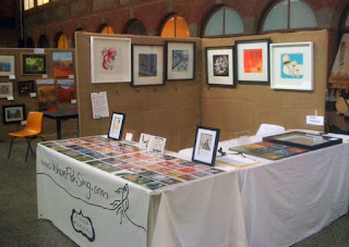 The stall of WhereFishSing aka artist Fiona Morgan at the Ballarat Artisan Fair 2011
