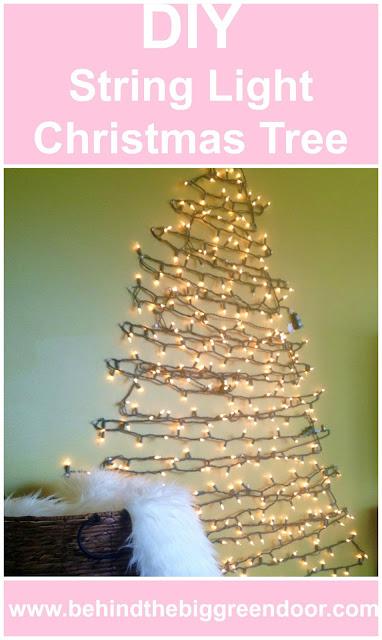DIY String Light Christmas Tree - Christmas tree alternative