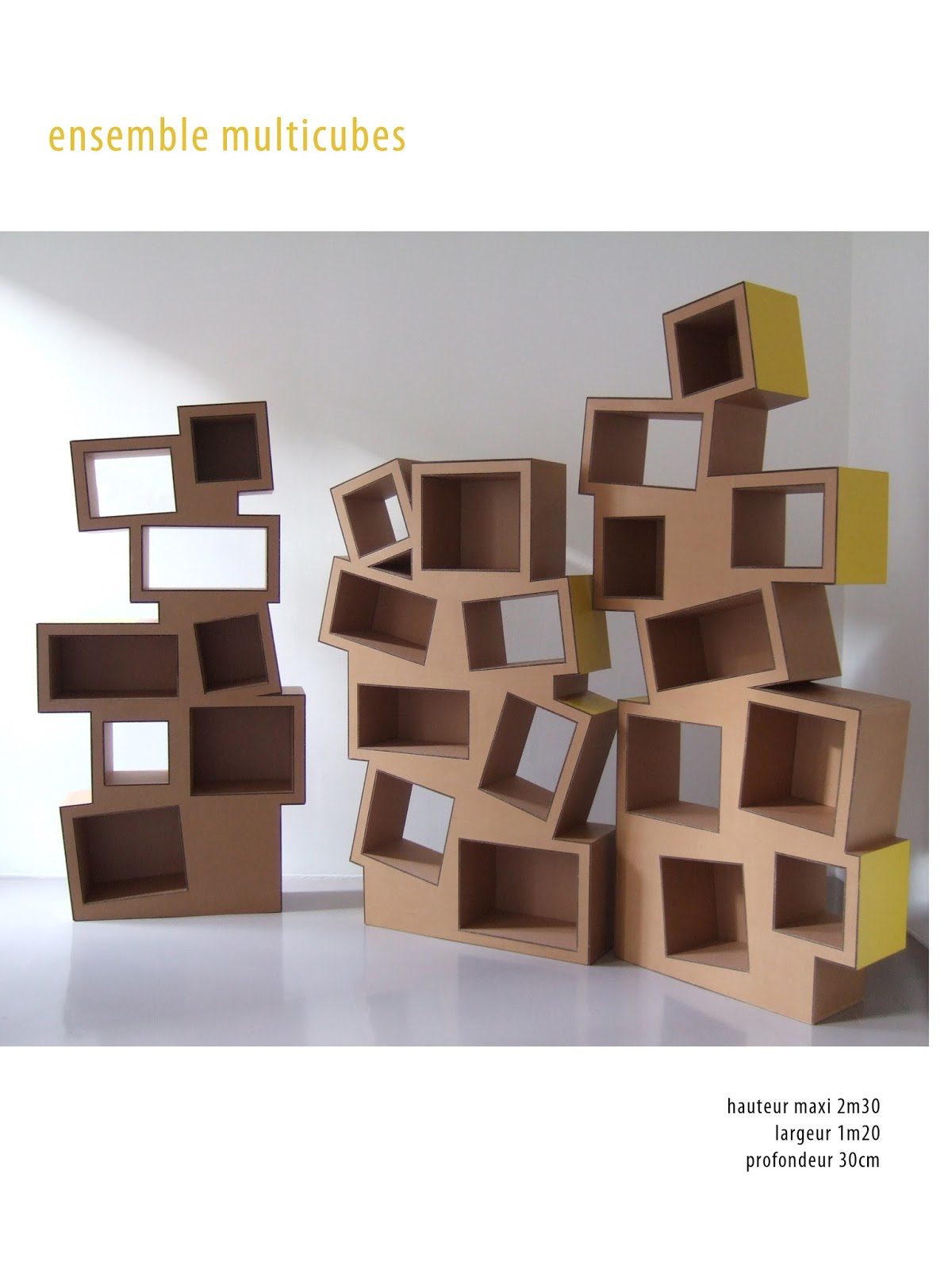 Juliadesign meuble en carton tag re en carton - Mobilier carton design ...