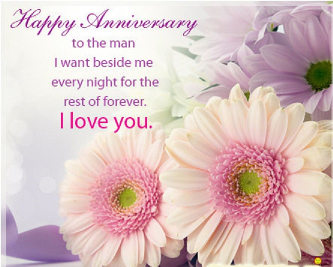 Romantic anniversary quotes for her marriage anniversary