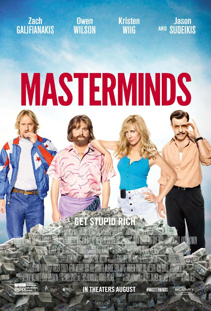 Masterminds, Movie Poster, Directed by Jared Hess