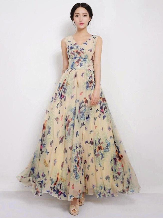 a8ced98aef9f ASD Blog  Sexy Fashion Boho Light Color Maxi Dress