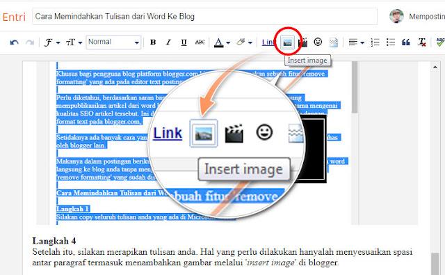 Cara Memindahkan Tulisan dari Word Ke Blog