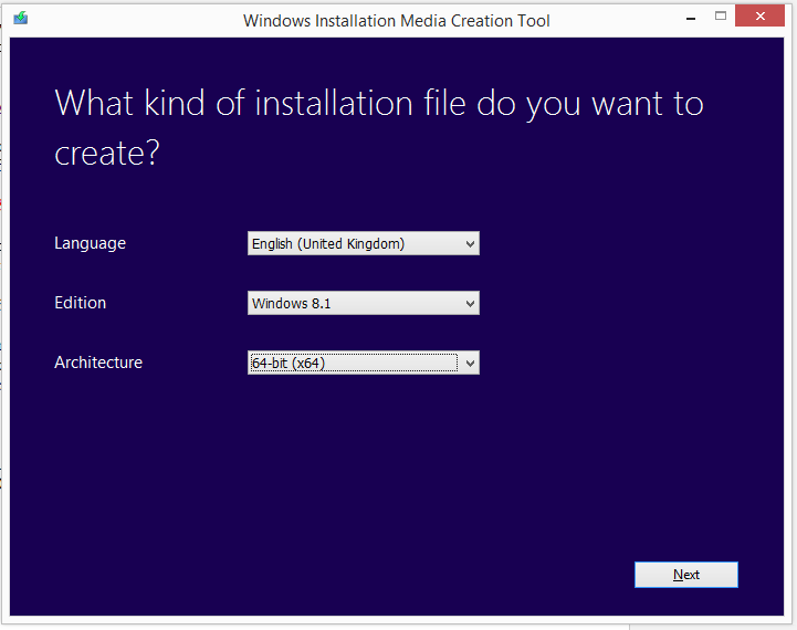Create installation media for Windows 8.1 1