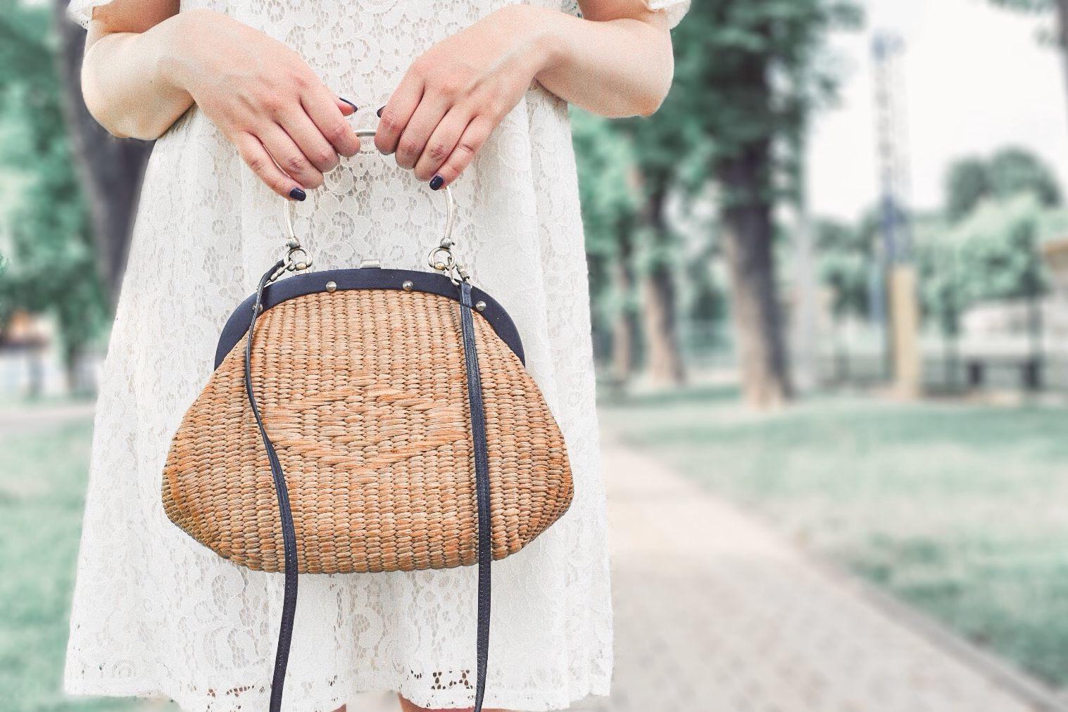 vintage straw bag