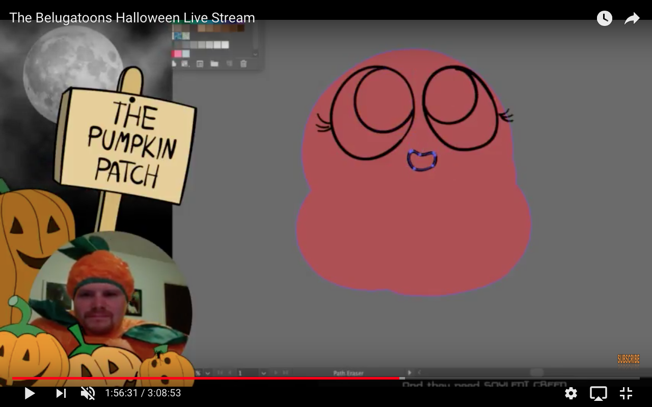 Belugatoons: Highlights from the Halloween Live Stream