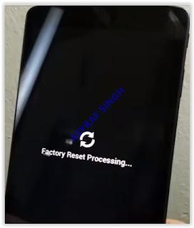 factory data reset process