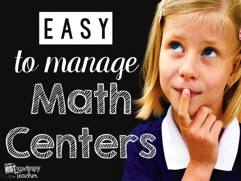 Diary of a Not So Wimpy Teacher: Easy to Manage Math Centers
