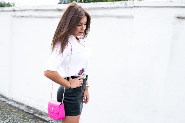 Biała koszula w eleganckiej stylizacji z przymrużeniem oka/ MOHITO LOOK - Czytaj więcej