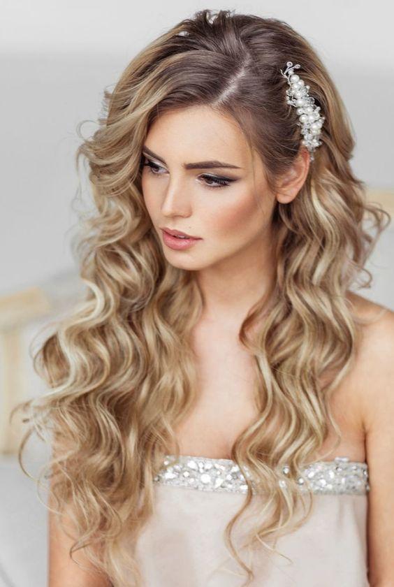 aqu las mejores imgenes de peinados para novias con pelo largo como fuente de inspiracin