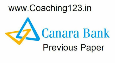 CANARA bank previous question paper with answers
